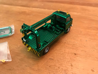Tomica Limited Vintage Green Chrome Nissan  Wrecker Truck prize