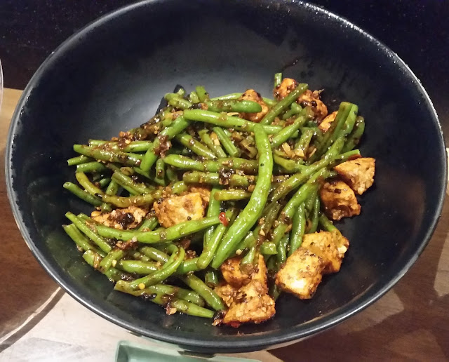 Cut Beans and Tofu