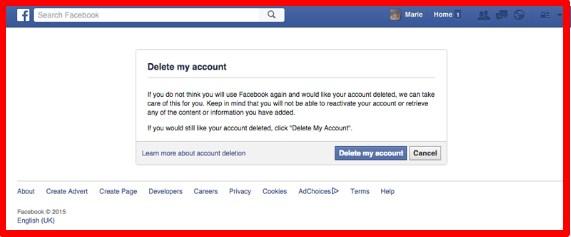 how do you delete your facebook