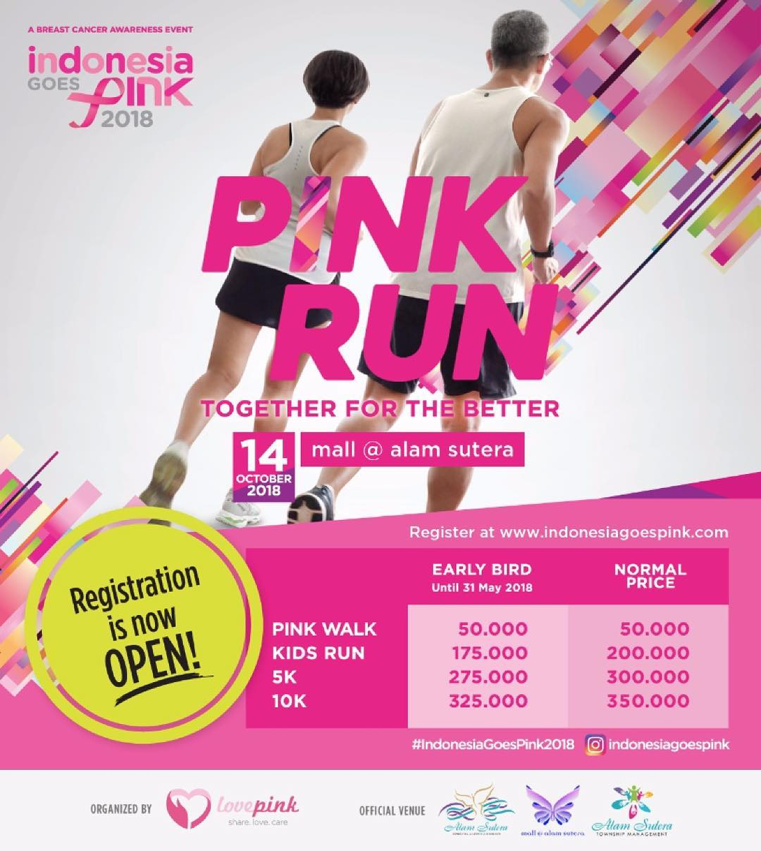 Indonesia Goes Pink • 2018
