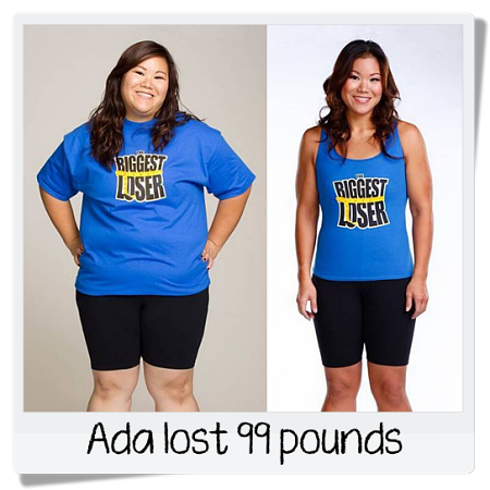 Biggest Loser Ada before and after weight loss photos
