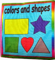 Mainan buku dari kain warna dan bentuk