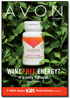 Avon Campaign 21 Brochure with Espira Natural Energy on cover