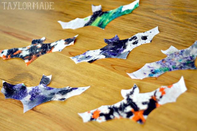 Kids Craft - Halloween Crayon Bats 8