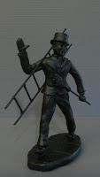action figure personalizzata spazzacamino modellino da esposizione orme magiche