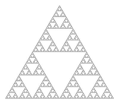 自然界はシンプルな法則で成り立っている?フラクタルとは?【o】 シェルピンスキーの三角形 フラクタル日よけ