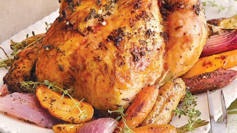 Butter-Herb Roasted Chicken