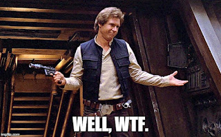 Han Solo doesn't want to run.