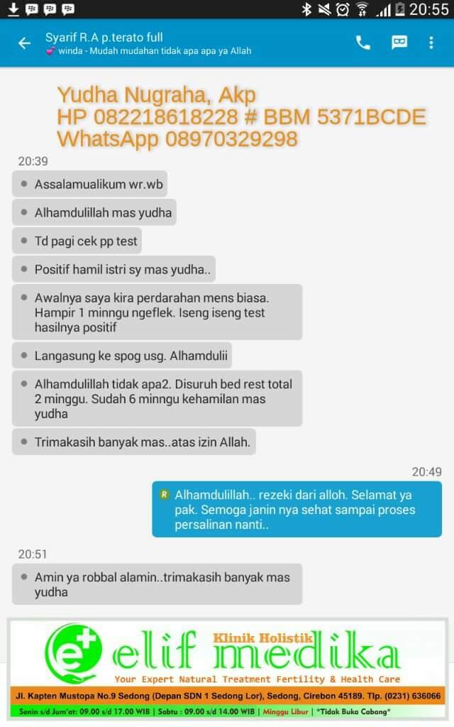 Testimoni Teratozoospermia Klinik Holistik Elif Medika