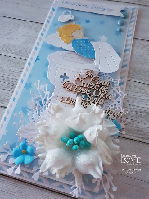 Christening card and few pictures from my workshop