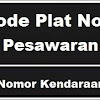 Kode Plat Nomor Kendaraan Pesawaran