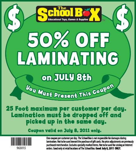 Laminator com discount coupon