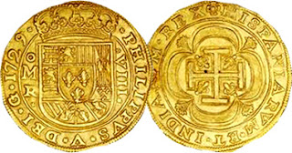 Spanish 8 Escudo Coin