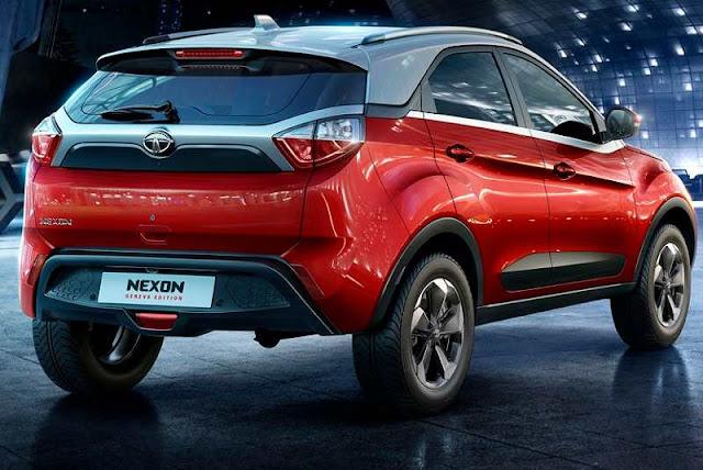 Tata Nexon Compact SUV Red Pics