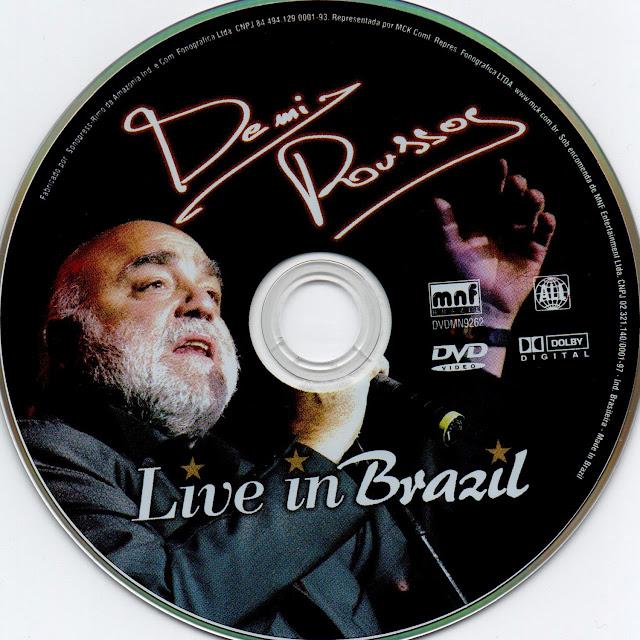 Label DVD Demis Roussos Live in Brazil (Oficial)