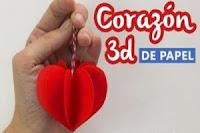 CORAZON 3D DE PAPEL