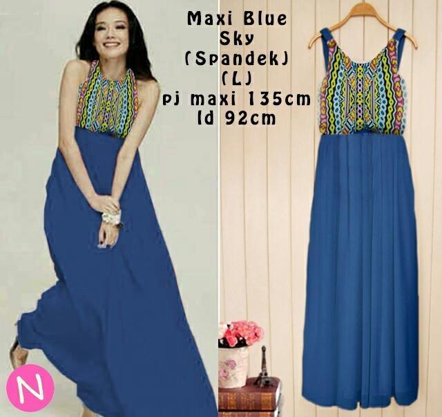 Jual Maxi Dress Maxi Bluse Sky - 12701