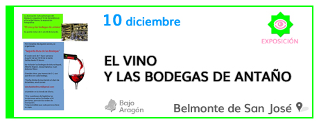 El vino y las bodegas de antaño en Belmonte de San José
