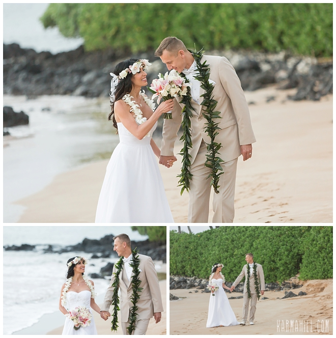 Simple Wedding Dresses Eloping: Kasia & Piotr's Maui Elopement & Trash