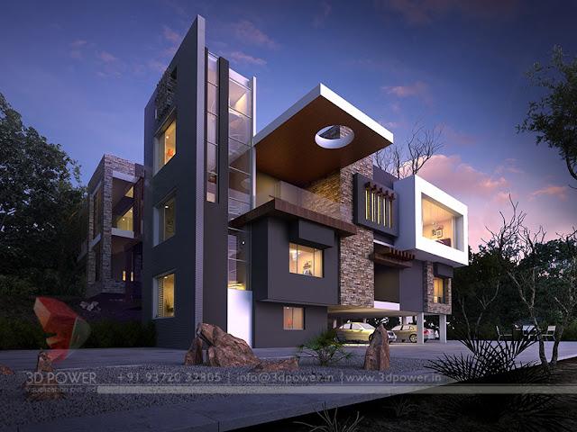 Modern home elevation swimming pool design