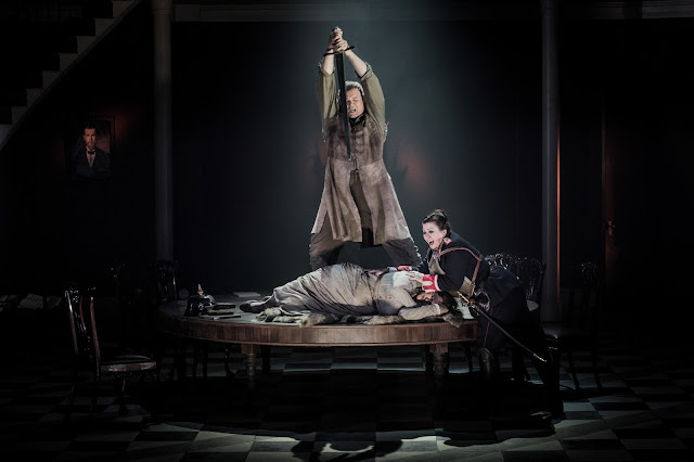Grange Park Opera - Wagner: Die Walkure - Bryan Register, Claire Rutter, Jane Dutton (credit: Robert Workman)