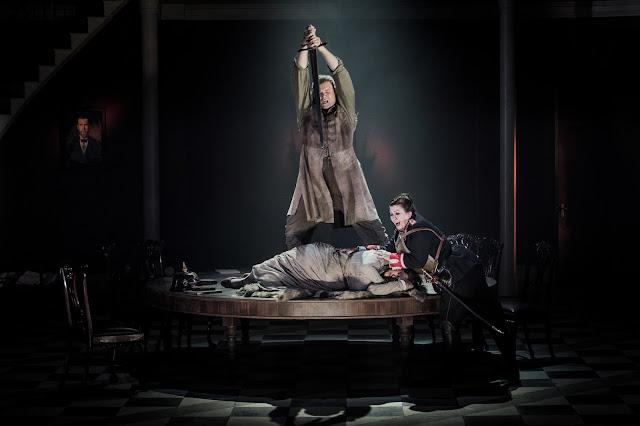 Grange Park Opera - Wagner: Die Walkure - Bryan Register, Claire Rutter, Jane Dutton (credit: Robert Workman)