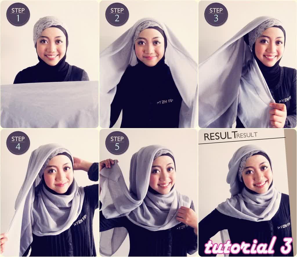7 Cara Mudah Pakai Jilbab Hijab Segi Empat Bagi Perempuan Yang