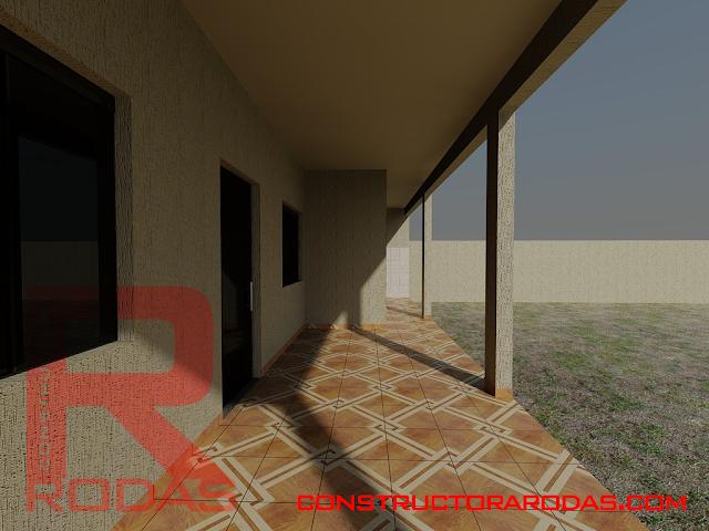 constructora rodas - proyectos - casa moderna - modern house - proyecto 3d