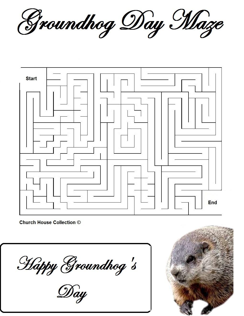Uncategorized Groundhog Day Math Worksheets church house collection blog groundhog day mazes for school teachers teachers