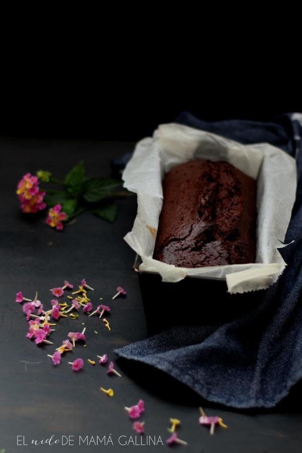 Double chocolate and banana cake