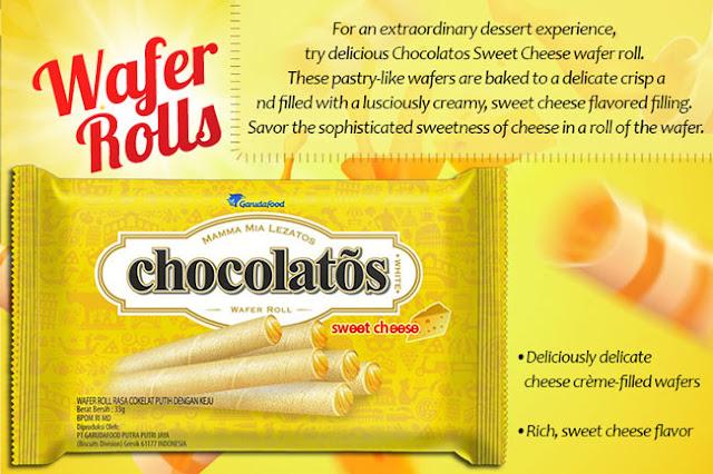 Contoh iklan Chocolatos dalam Bahasa Inggris Chocolatos Sweet Cheese
