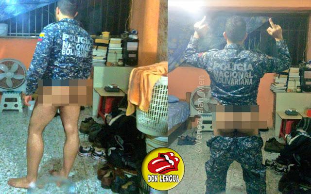 Funcionario de la PNB se mostró sin pantalones en sus redes sociales