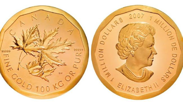 moneda de oro big maple leaf