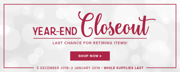 Year End Close Out sale Stampin' Up!