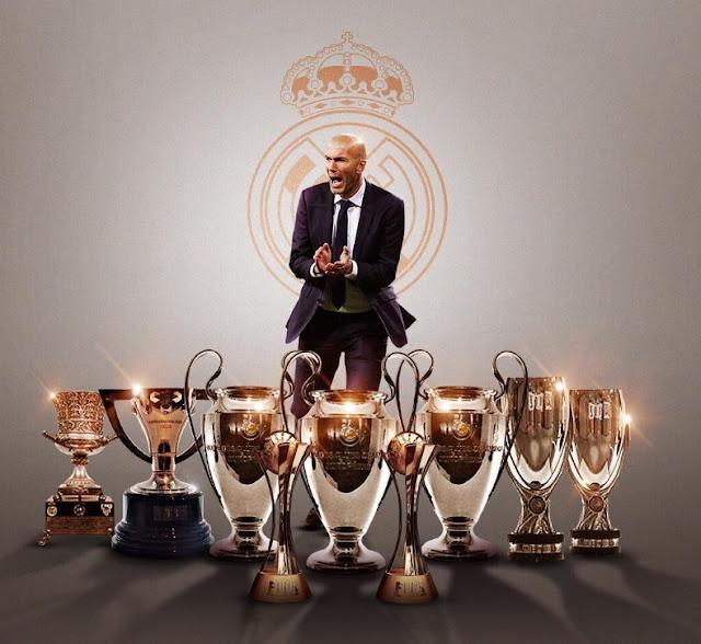 Zinedine Zidane 9 títulos como DT