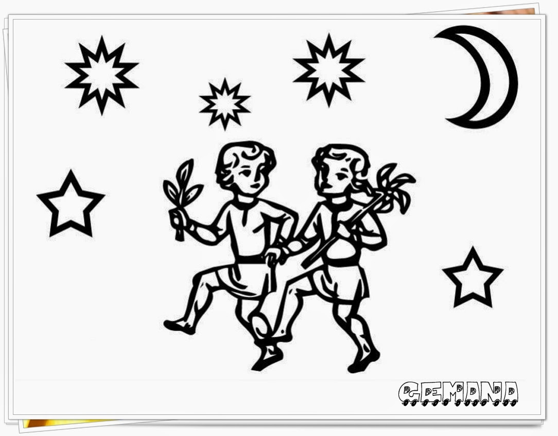 gemini zodiac printable coloring pages