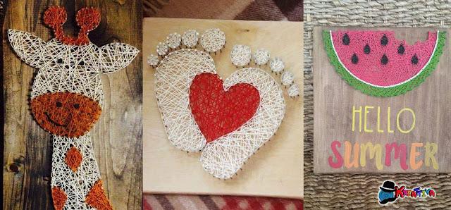 String Art tante idee decorative per creare con chiodi e fili
