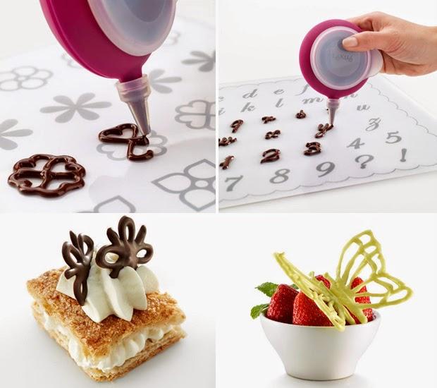 Decoraciones de chocolate con plantillas caseras - Plantillas de decoracion ...