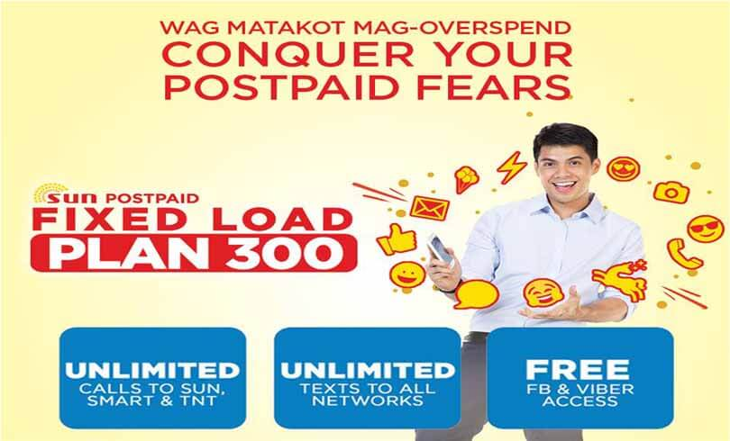 Sun Cellular Fixed Load Plan 300 – 30 days Unli Call and Text + Free FB
