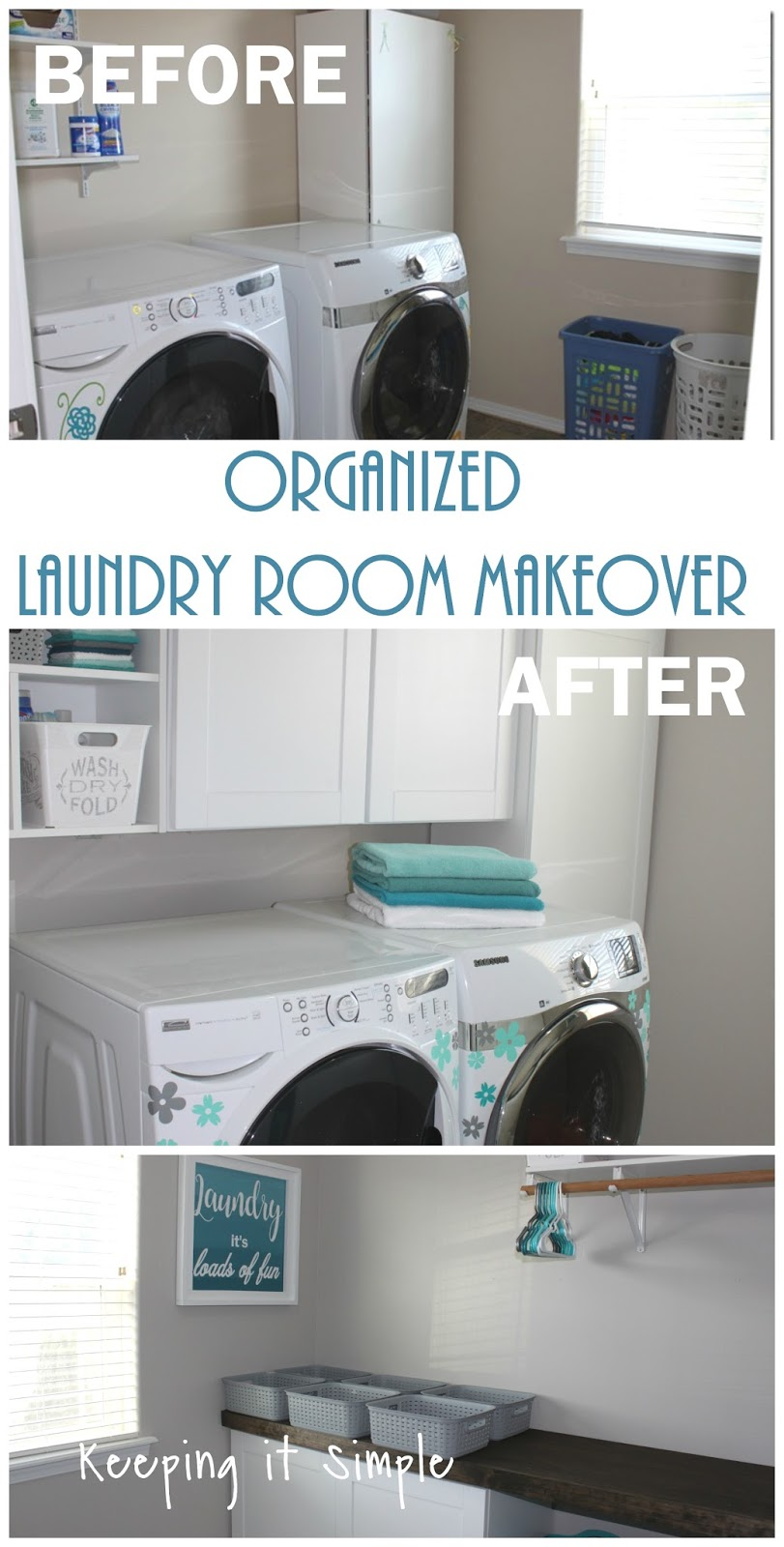 Keeping it Simple: Organized Laundry Room Makeover