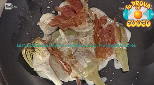 Ricetta del Carciofo al cacio di fossa pepe e prosciutto di mora da La Prova del Cuoco