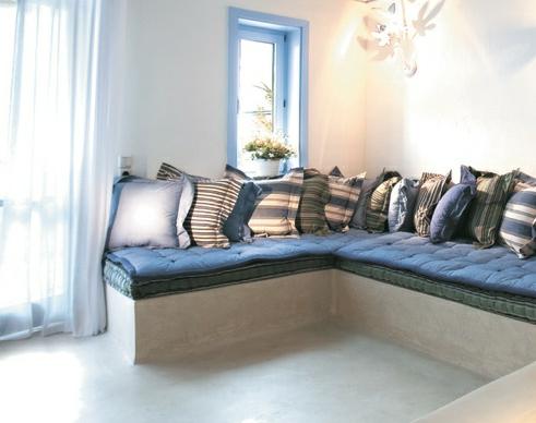 Greek built in seating