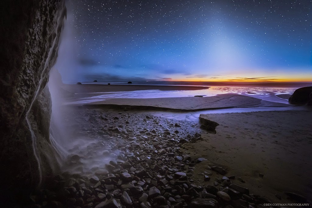 8. False Dusk and Falls, Oregon Coast - The World at Night with Clear Skies and No Light Pollution