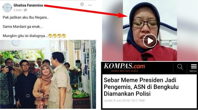 Lecehkan Neno Warisman dan Prabowo di Medsos, ASN Kemenkeu Akhirnya Minta Maaf, Cukup?