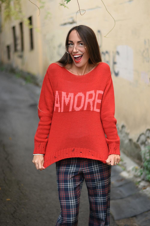 maglione scritta amore