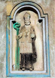 Św. Wojciech, ludowa płaskorzeźba, Kornatka koło Dobczyc.
