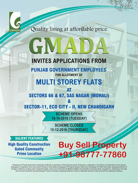 Gmada Ecocity Phase 2 and Sector 66-67 mohali flats scheme