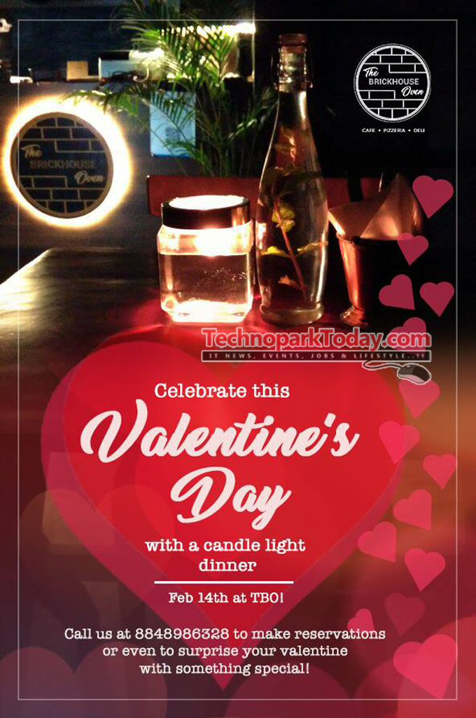 valentines day brickhouse oven trivandrum