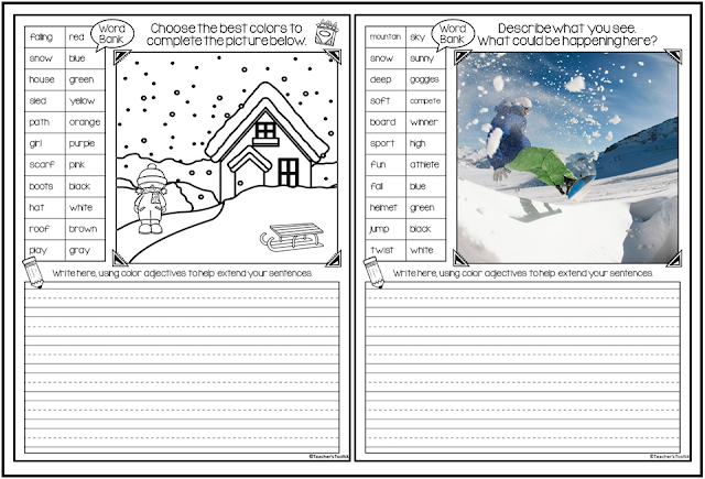 Click here for this winter write about the picture resource on TpT!