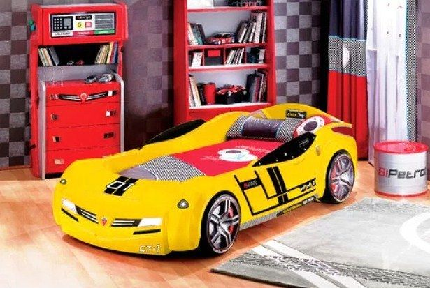 Desain Kamar Tidur Anak Laki-Laki Tema Mobil